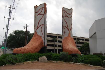 Worlds largest cowboy boots