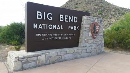 Big Bend Welcome Sign
