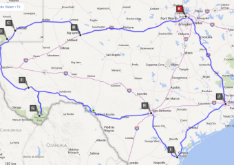 Route Dallas (15 dagen)